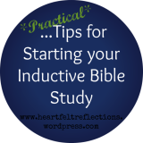Starting an Inductive Bible StudySession