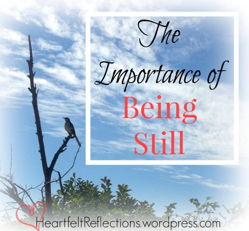Be still and know that I am God... Psa 46:10 Read more about The Importance of Being Still at HeartfelReflections.wordpress.com